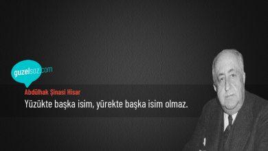 Photo of Abdülhak Şinasi Hisar Sözleri