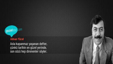 Photo of Adnan Yücel Sözleri