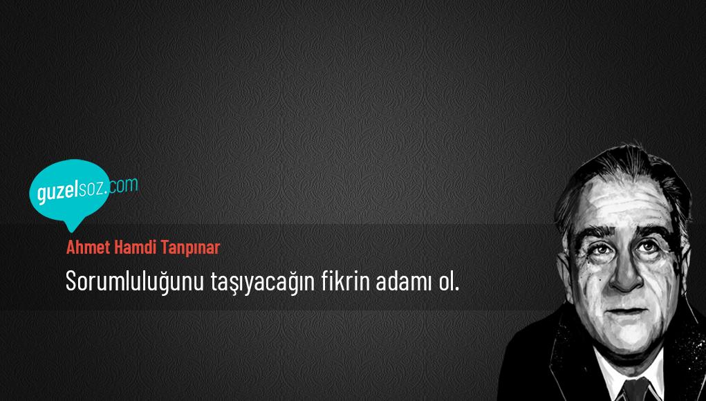 Ahmet Hamdi Sözleri