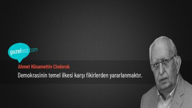 Photo of Ahmet Hüsamettin Cindoruk Sözleri