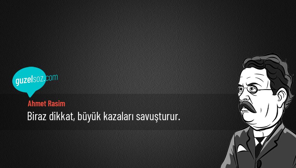 Ahmet Rasim Sözleri