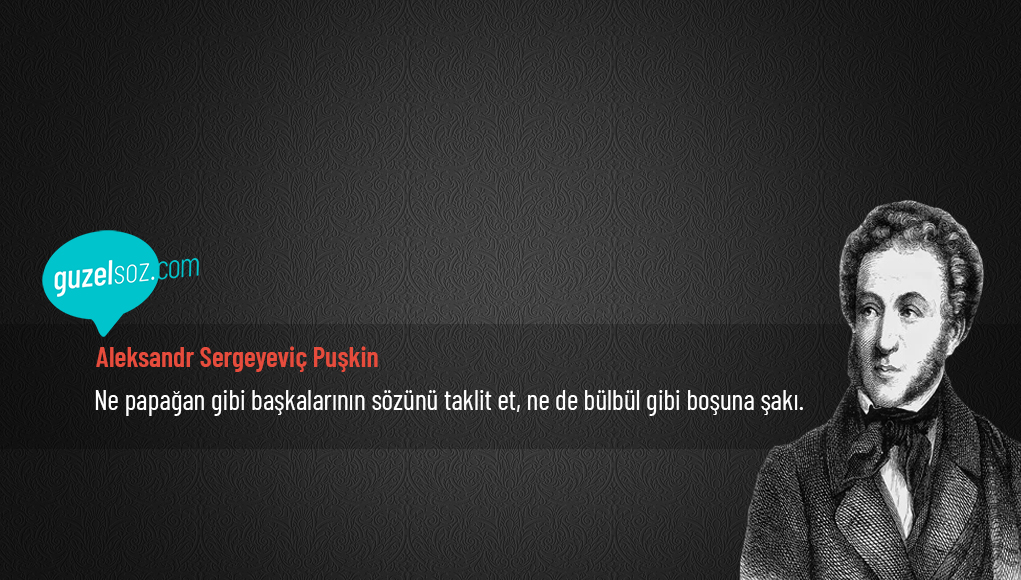 Aleksandr Puşkin Sözleri