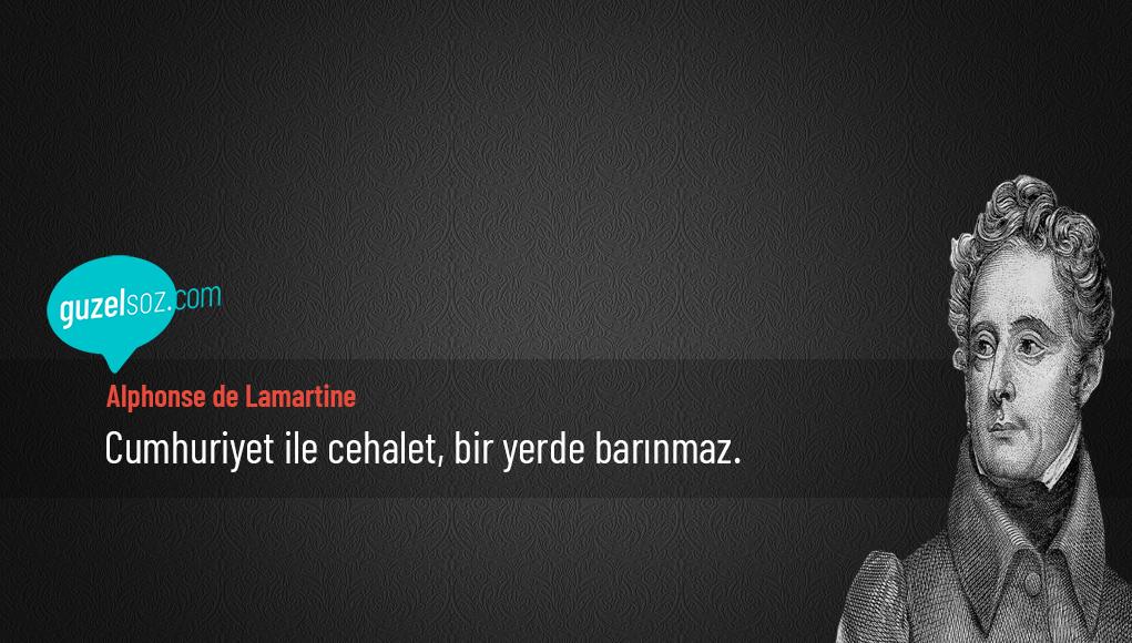 Alphonse de Lamartine Sözleri
