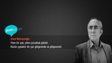 Photo of Ataol Behramoğlu Sözleri