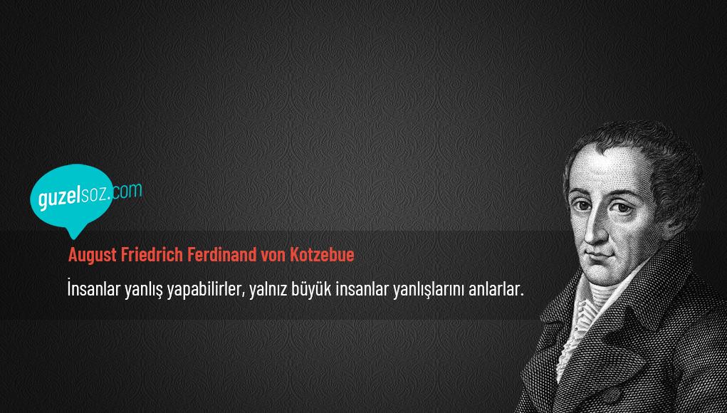 August Friedrich Ferdinand von Kotzebue Sözleri