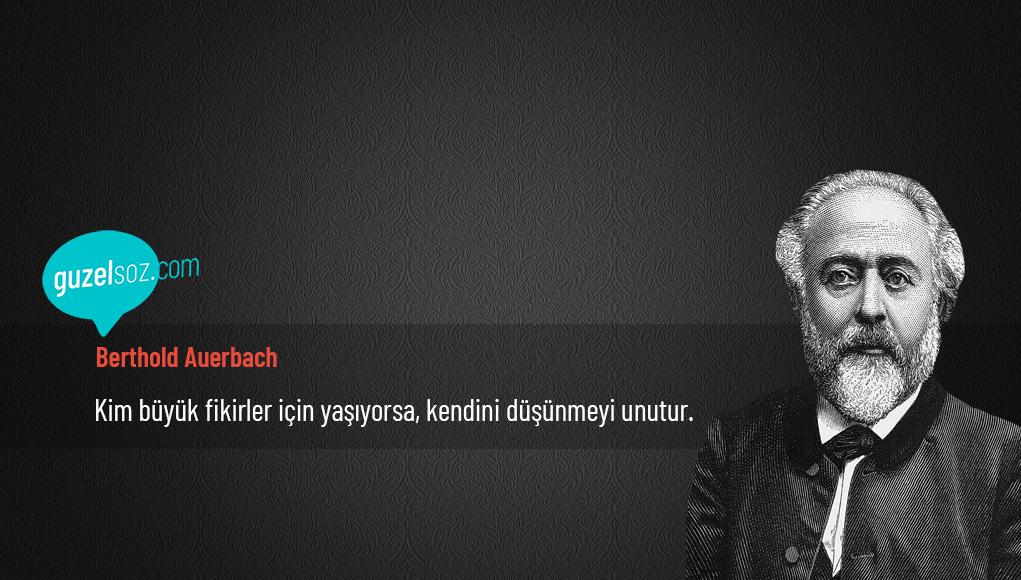 Berthold Auerbach Sözleri
