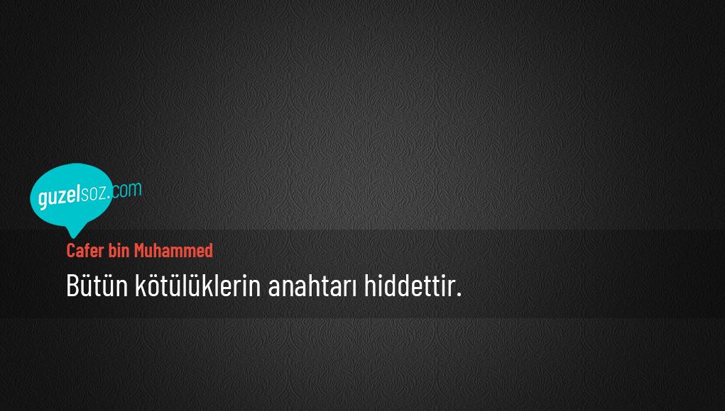Cafer bin Muhammed Sözleri