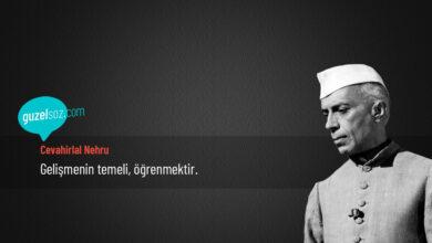 Photo of Cevahirlal Nehru Sözleri