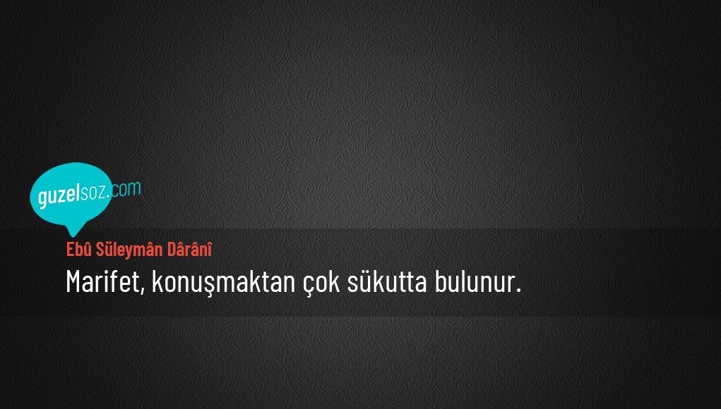 Ebu Süleyman Darani Sözleri
