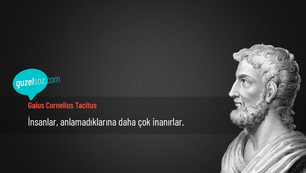 Gaius Cornelius Tacitus Sözleri