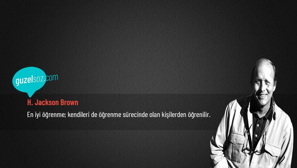 H. Jackson Brown Sözleri