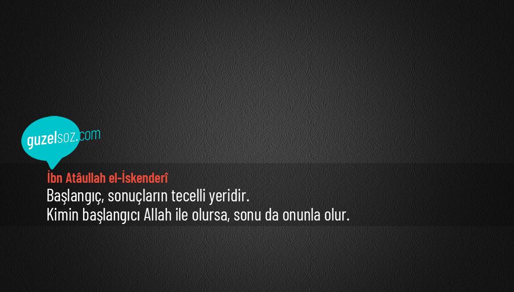 İbn Atâullah el-İskenderî Sözleri