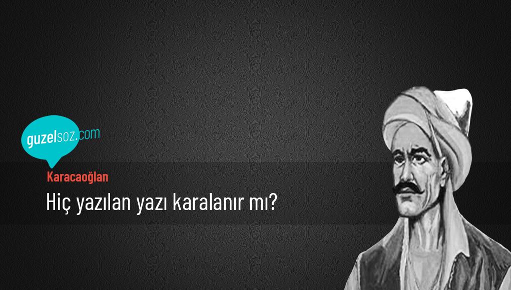Karacaoğlan Sözleri