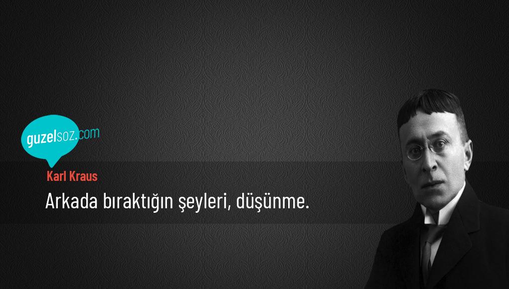 Karl Kraus Sözleri