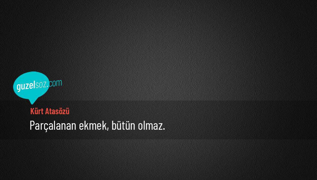 Kürt Atasözü