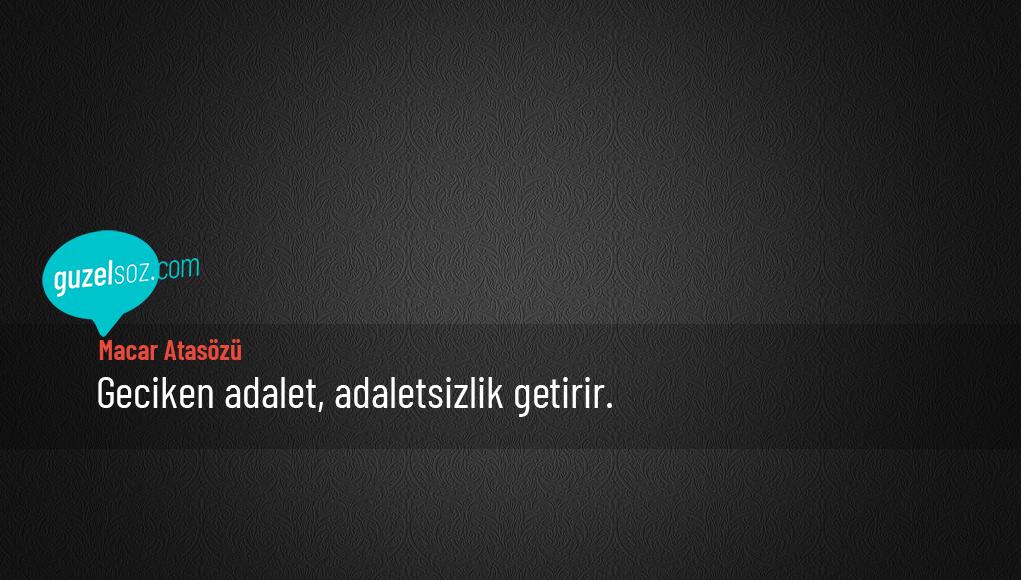 Macar Atasözleri