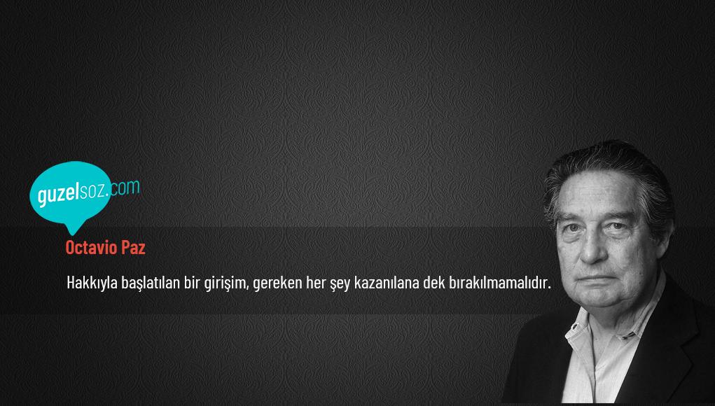 Octavio Paz Sözleri