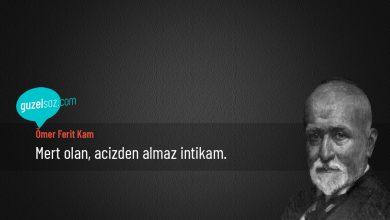 Photo of Ömer Ferit Kam Sözleri