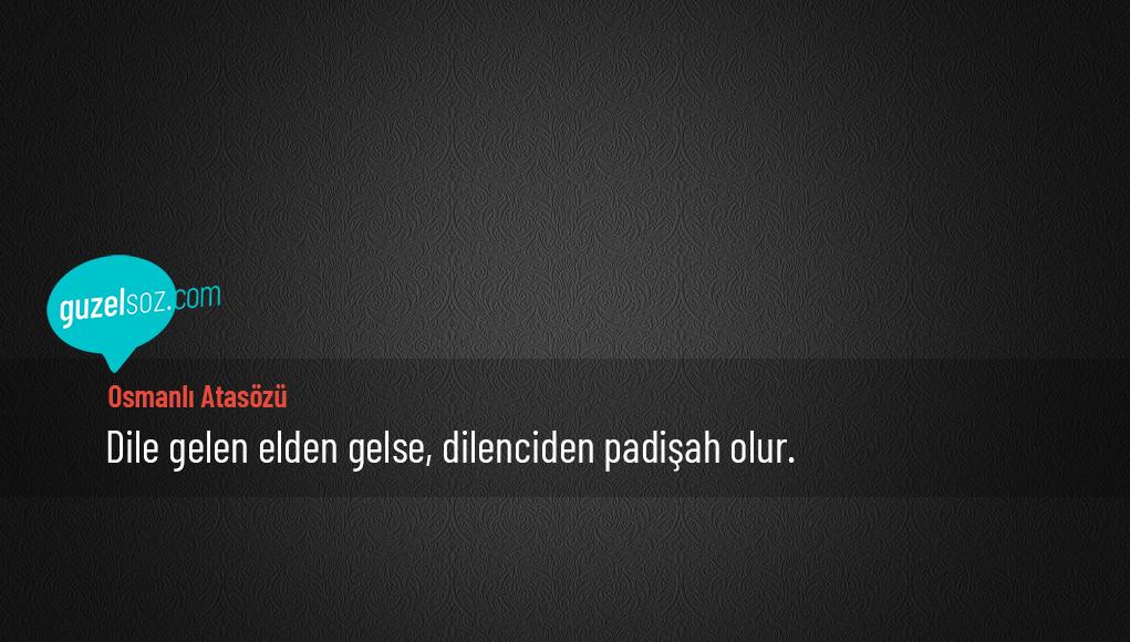 Osmanlı Atasözü