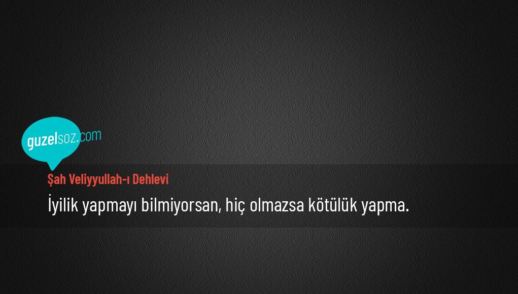 Şah Veliyyullah-I Dehlevi Sözleri