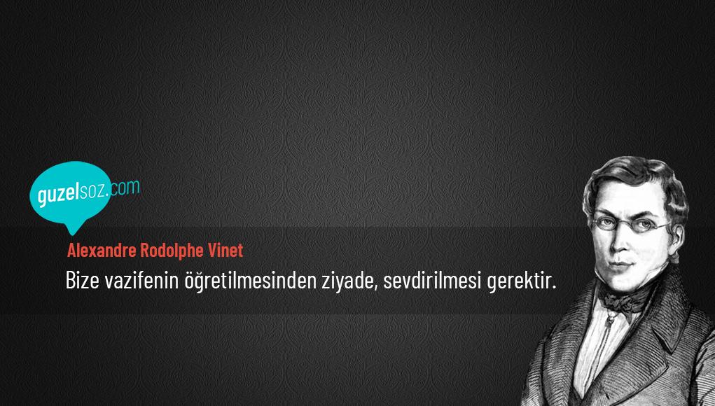 Alexandre Rodolphe Vinet Sözleri